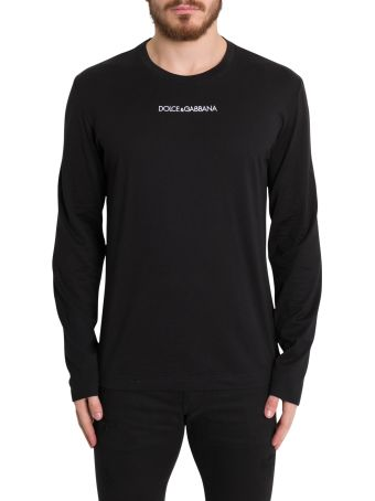 Dolce & Gabbana Long Sleeves Tee With Embroidered Logo