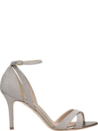 The Seller Sandals In Platinum Glitter