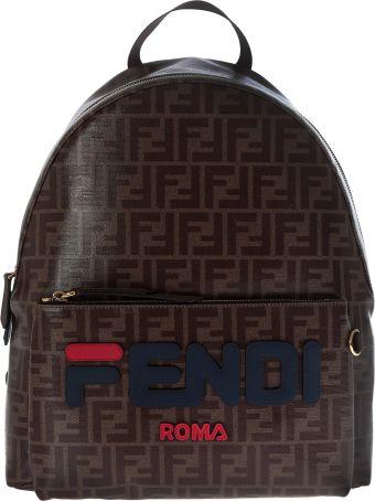 Fendi Fendimania Double F Print Backpack