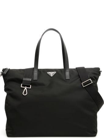 Prada Nylon + Saffiano Tote Bag