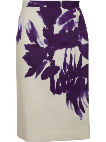 Dries Van Noten Floral Pencil Skirt