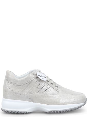 Hogan Interactive Light Taupe Shiny Suede Sneaker Hxw00n00e30kayb002