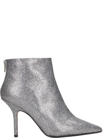 Anna F. Silver Strass Ankle Boots