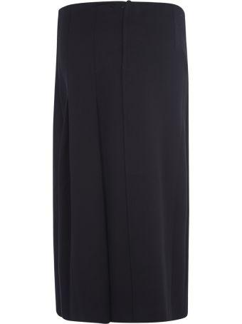 Marni Rear Zip Pleated Skirt