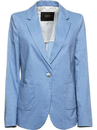 Seventy Seventy Light Blue Blazer Jaket