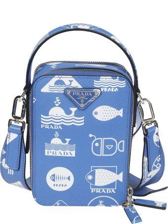 Prada Printed Boxy Shoulder Bag