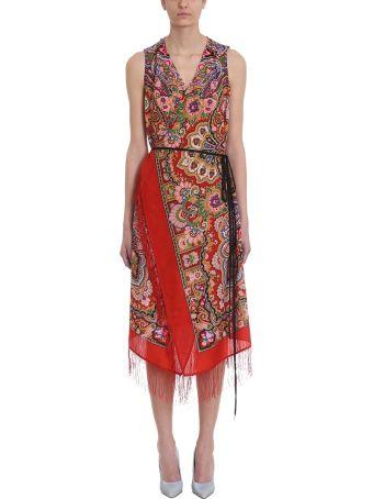 VETEMENTS Red Wool Wrap Dress