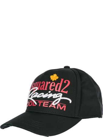 Dsquared2 Adjustable Cotton Hat Baseball Cap Racing