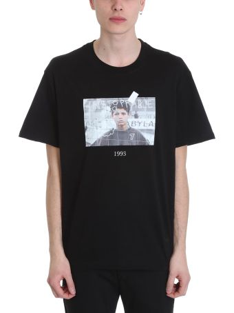 Throw Back Cristiano Black Cotton T-shirt
