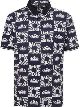 Dolce & Gabbana Logo Printed Polo Shirt