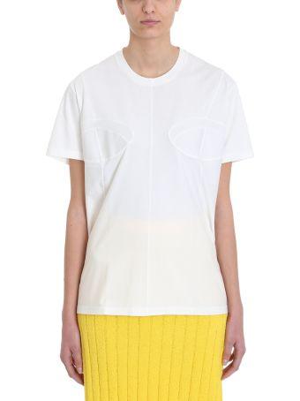 Jil Sander Bustier White Cotton T-shirt