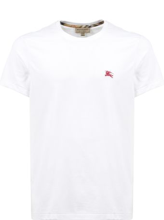 Burberry Embroidered Logo T-shirt