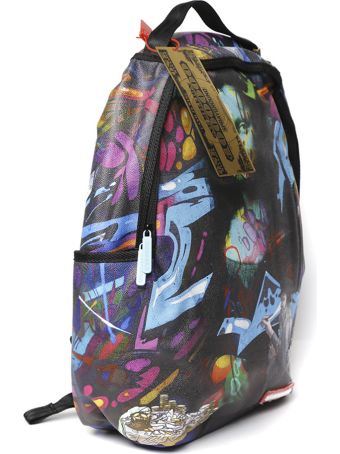 Sprayground Black & Multicolor Printed Backpack
