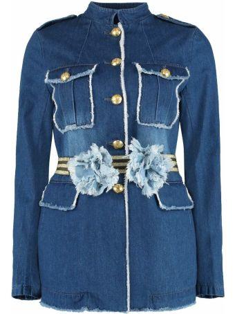 Alessandra Chamonix Ariane Stone Washed Denim Jacket
