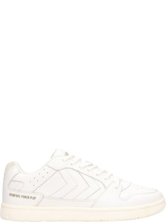 Hummel Power Play White Leather Sneakers