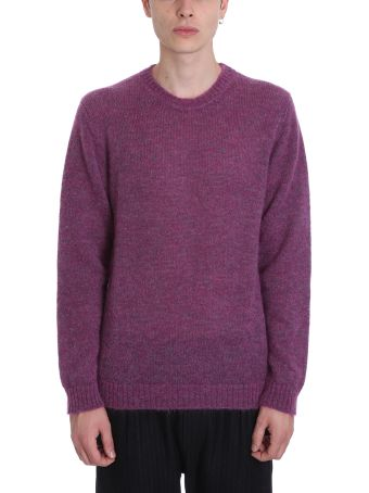 Low Brand Purple Wool Sweater
