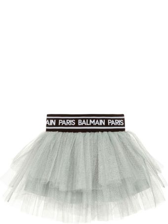 Balmain Gray Girl Skirt