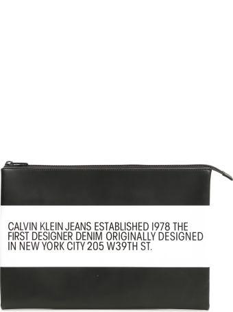 Calvin Klein Unisex Leather Pouch