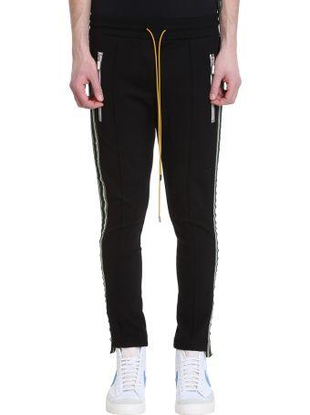 Rhude Traxed Black Fabrical Technics Pants