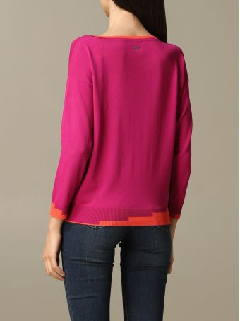 Armani Collezioni Armani Exchange Sweater Armani Exchange Sweater With Contrasting Geometric Edges