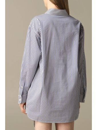 Hilfiger Denim Hilfiger Collection Shirt Hilfiger Collection Micro-striped Shirt With Crest