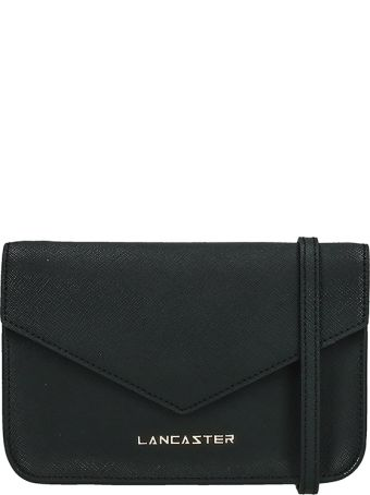 Lancaster Paris Adeline Mini Black Saffiano Leather Pochette
