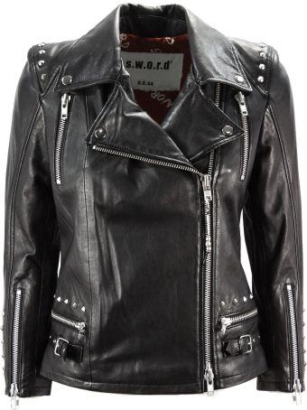 S.W.O.R.D 6.6.44 Black Leather Biker Jacket