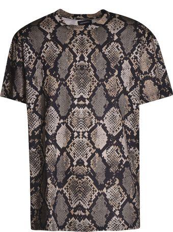 Les Hommes Snake Print T-shirt