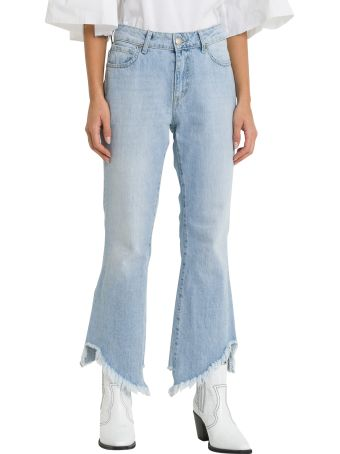 Federica Tosi Cropped And Frayed Tjeans