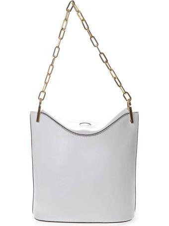 Gianni Chiarini White Leather Buckett Bag