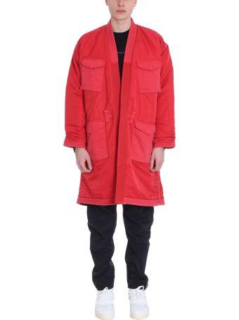 Maharishi Red Fabric Coat