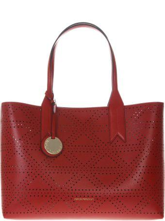Emporio Armani Frida Red Faux Leather Bag