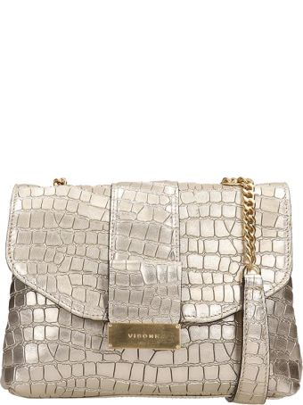 Visone Gold Leather Alice Bag