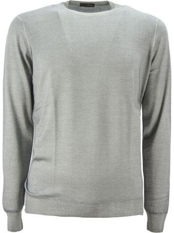 Drumohr Grey Merino Wool Pullover