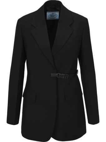 Prada Clip Fastening Suit Jacket