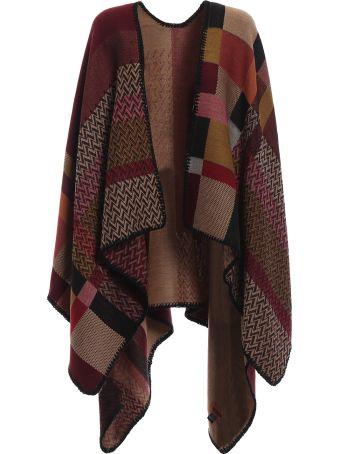 M Missoni Blanket Style Patchwork Wool Poncho
