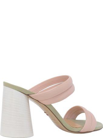 Halmanera Light Pink Leather Sandals