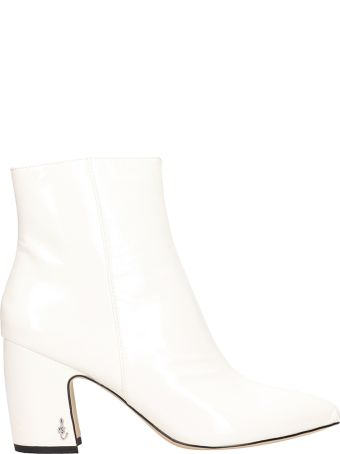 Sam Edelman Ankle Boot White Patent Leather Ankle Boots