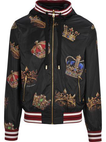 Dolce & Gabbana Dolce&gabbana Bomber Nylon Crown Multicolor
