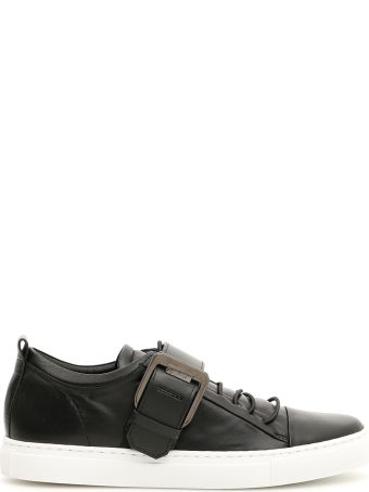 Lanvin Square Buckle Nappa Sneakers