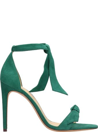 Alexandre Birman Green Suede Leather Sandals