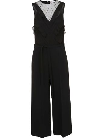 RED Valentino Valentino Red Ruffled Detail Long Jumpsuit