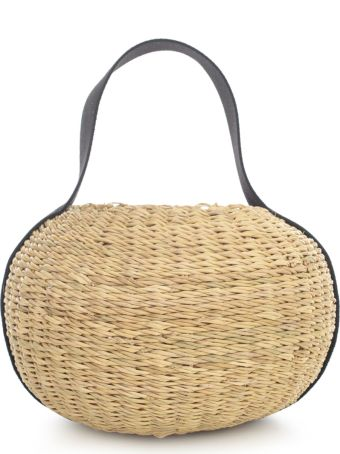 Muun Rigid Oval Bag W/cotton Inside
