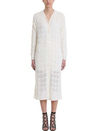 See by Chloé Knitted White Wool Cardigan