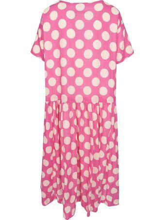 Casey Casey Polka Dot Print Short-sleeved Dress