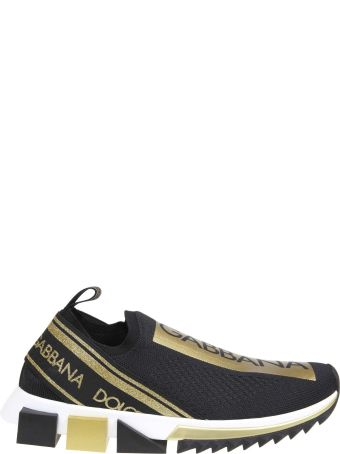 Dolce & Gabbana Sneakers Sorrento With Logo Color Black / Gold