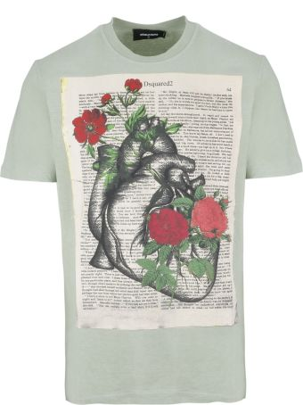 Dsquared2 Book Page Printed T-shirt
