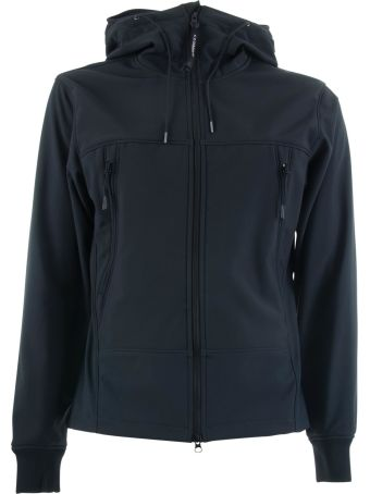 C.P. Company Soft Shell Goggle Full Zip Short Jacket