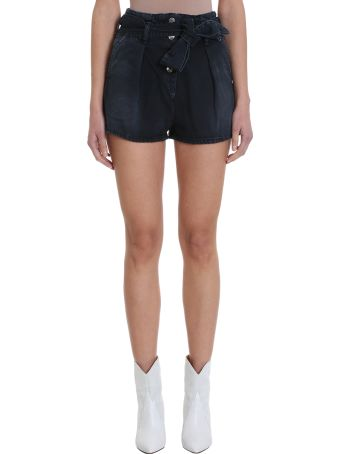 IRO Black Wash Denim Shorts