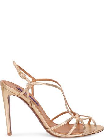 Ralph Lauren Gold Bladine Sandals